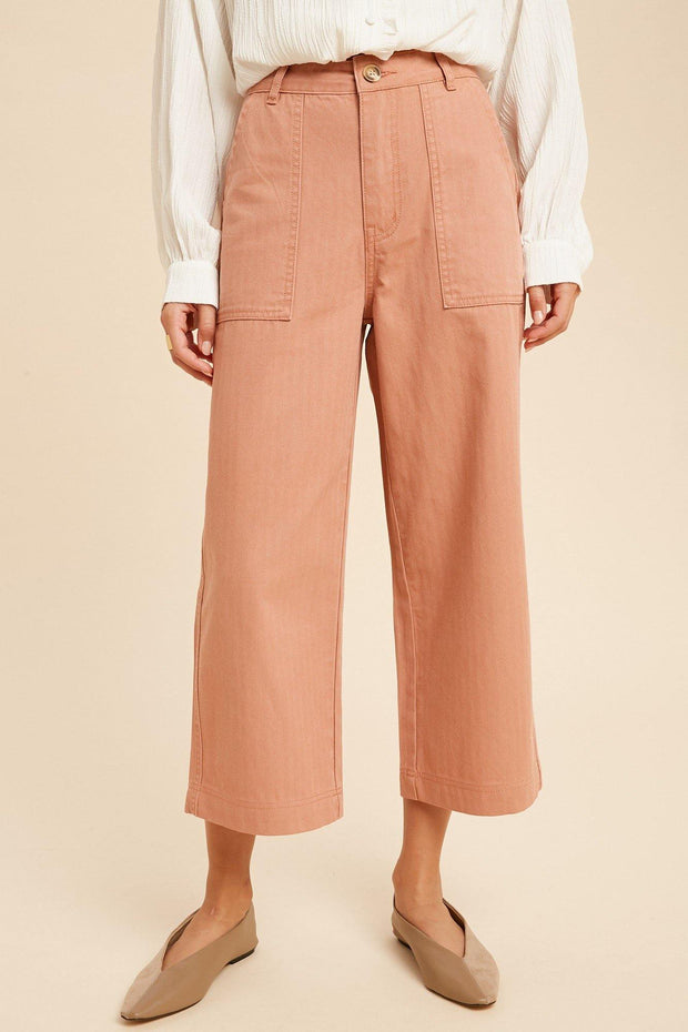 Wide Leg Denim Pant - Nigh Road
