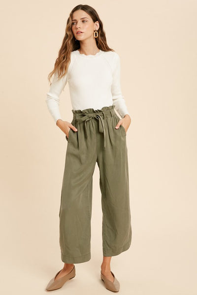 Belted Tencel Pants