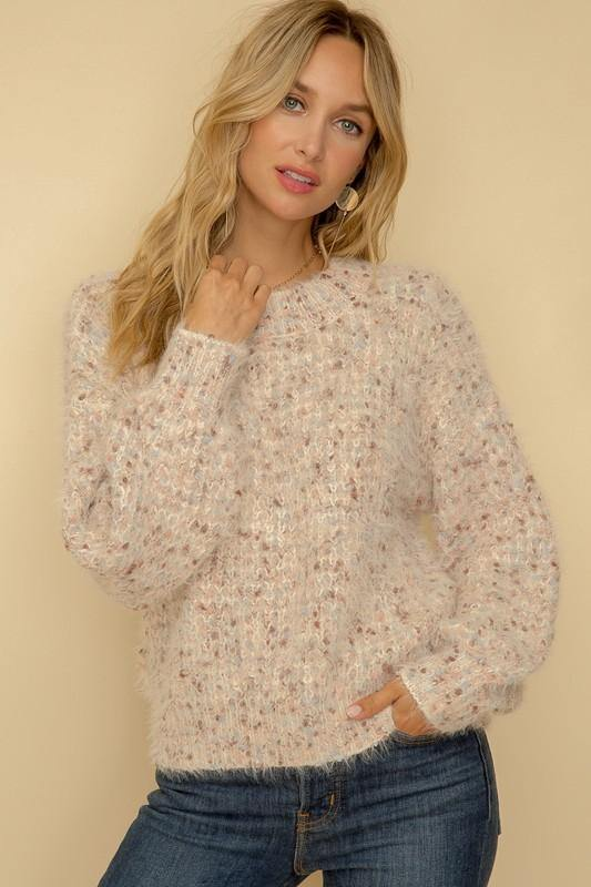 Blush Multi Pullover Sweater - Nigh Road