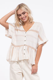 Striped Botton Down Top