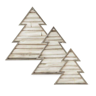 Whitewashed Wood Slat Christmas Trees - Nigh Road