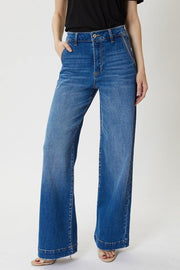 High Rise Wide Leg Jean - Nigh Road