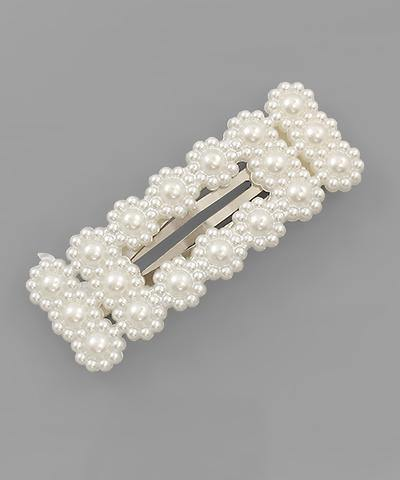 Pearl Rectangular Hair Pin - Nigh Road