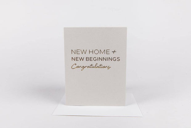 Greeting Card New Home - Nigh Road