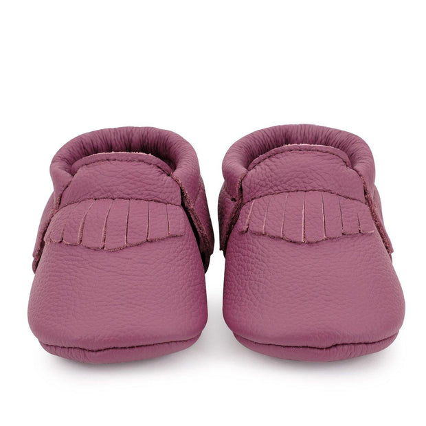 Genuine Leather Baby Moccasins Merlot