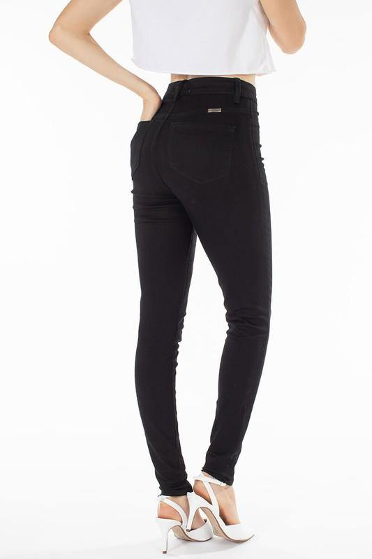 High-Waisted Black Jegging