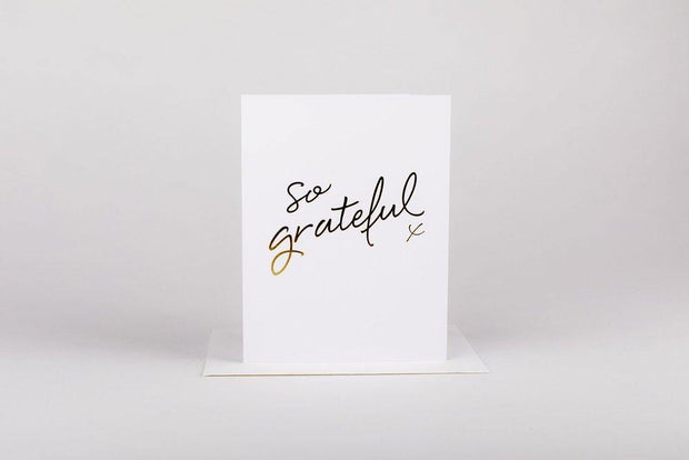 Greeting Card So Grateful