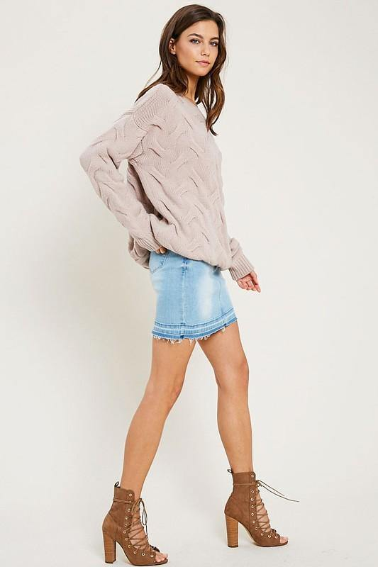 Denim Mini Skirt - Nigh Road