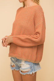Two Ply Yarn Pullover Sweater