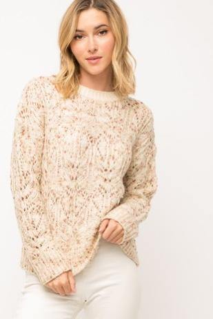 Color Mix Popcorn Sweater - Nigh Road