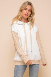 Cable Knit Contrast Sweater - Nigh Road