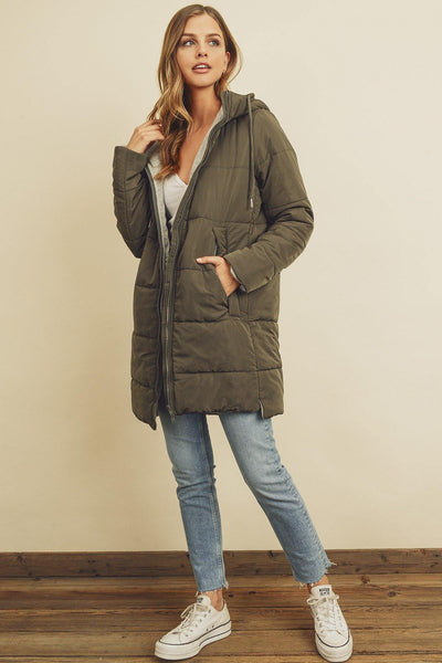 Hooded Puffer Jacket - Nigh Road