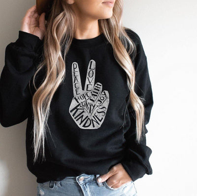 Peace Love Kindness Graphic Pullover