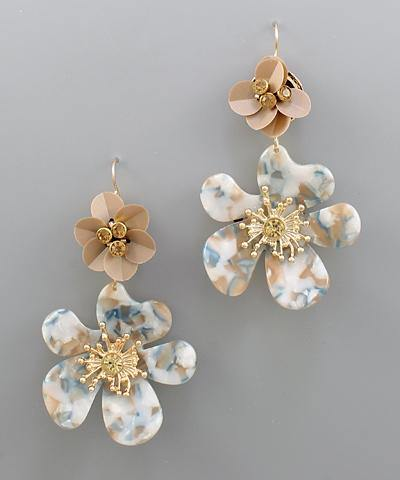 Double Blossom Earrings