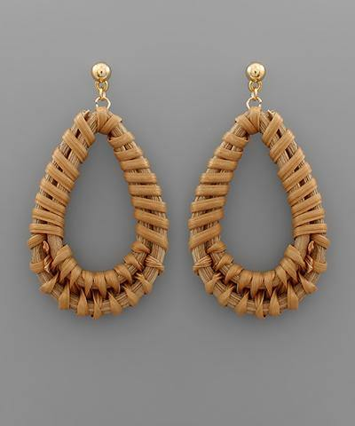 Rattan Teardrop Earrings