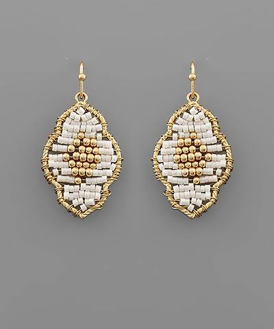 Bead Arabesque Earrings