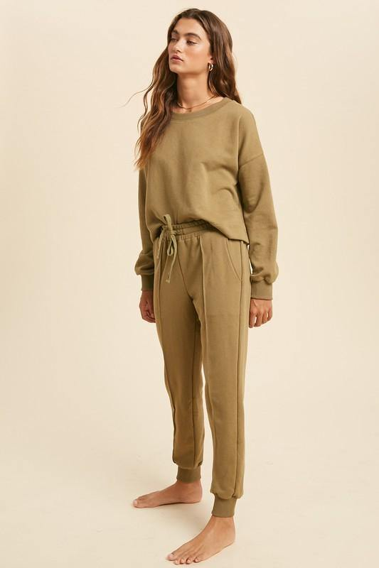 Piped Jogger and Sweater Set - Nigh Road