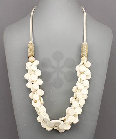 Multi Rows Coco Disc Necklace - Nigh Road