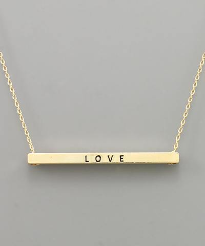 "Bar ""Love"" Necklace"