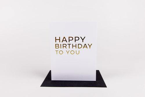 Greeting Card Happy Birthday To You - Nigh Road