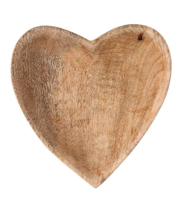 Mango Wood Heart Bowl