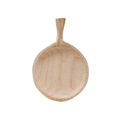 Decorative Paulownia Wood Tray with Handle - Nigh Road