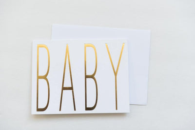 Greeting Card Baby White