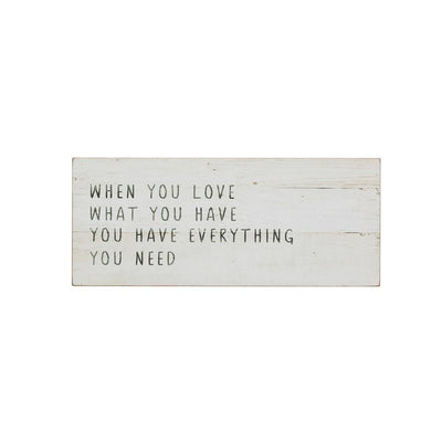 """When You Love"" Wall Decor"