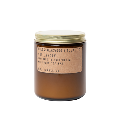 P.F. Candle Co. - Teakwood & Tobacco Soy Candle - Standard 7.2 oz - Nigh Road