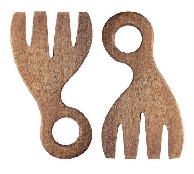 Acacia Wood Salad Servers, Set of 2