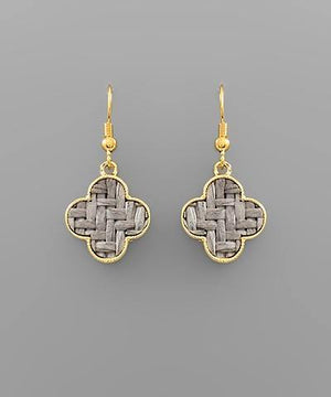 Clover Rattan Earrings