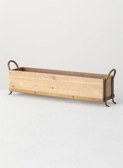 Wooden Table Planter with Handles - Nigh Road