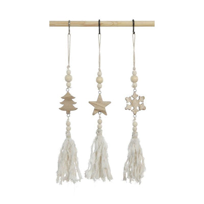 Wood Tassel Ornament