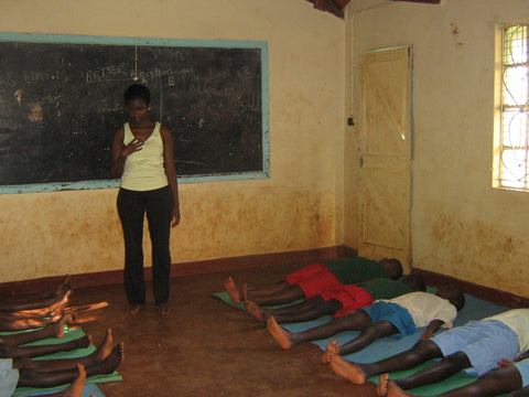 Winnie, teaching at kiambu Center