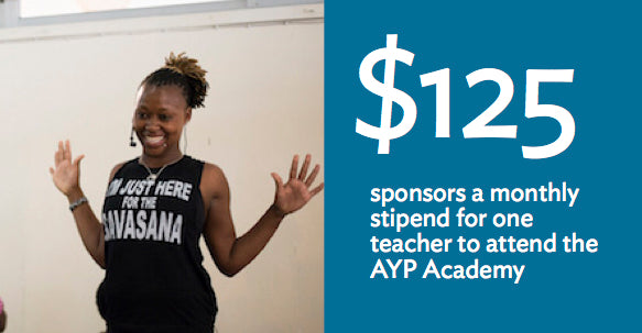 Impactful Gift: Sponsors a monthly stipend for one teacher to attend the AYP Academy