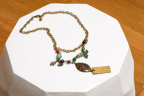 SHINE FROM THE INSIDE OUT NECKLACE - MADE IN KENYA