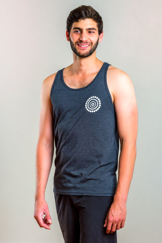 MANIFESTO UNISEX JERSEY TANK - DARK HEATHER GREY