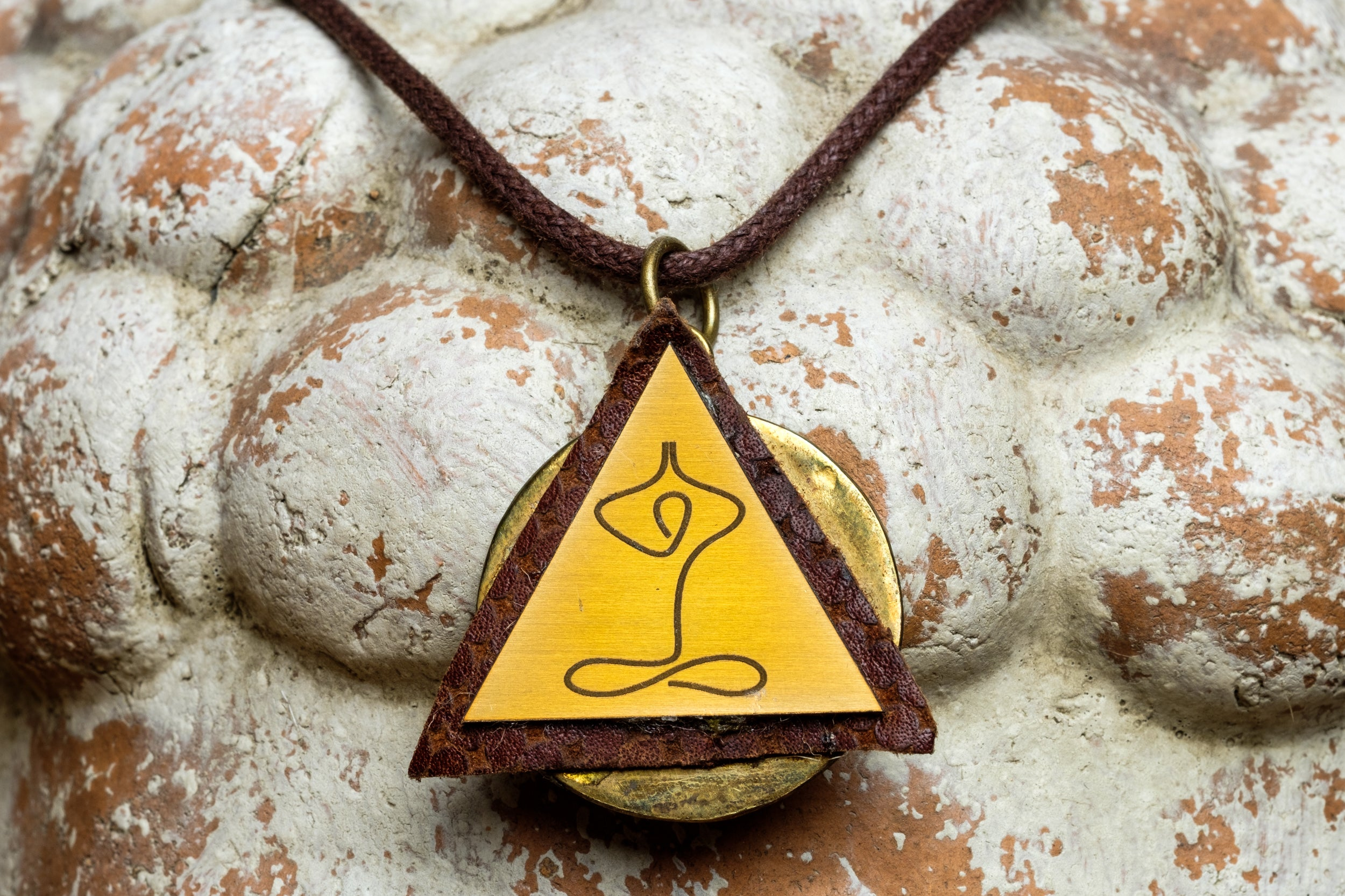 TRIANGLE YOGA POSE NECKLACE - MADE IN KENYA