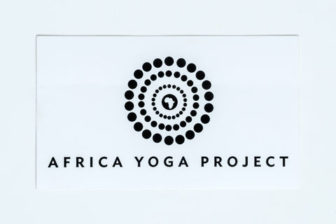 AFRICA YOGA PROJECT B&W STICKER