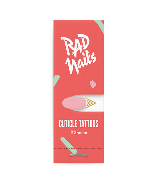 rad nails your point gold cuticle tattoo front