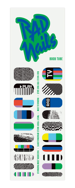 rad nails boob tube nail wraps sheet