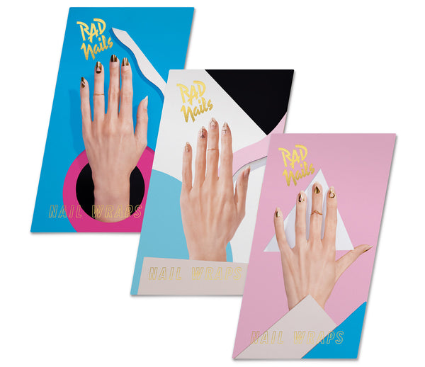 rad nails gold collection