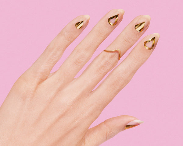 rad nails gold illuminati nail wraps