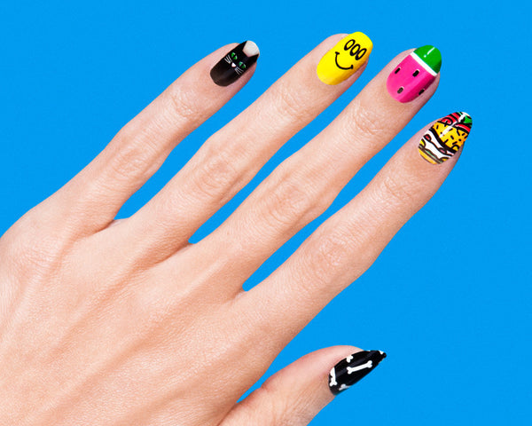 lazy oaf x rad nails nail wraps