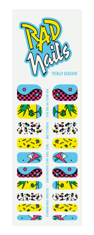 rad nails totally beachin' nail wraps
