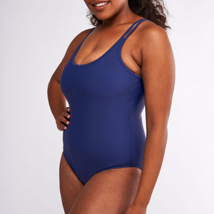 Modibodi Swimwear One Piece Navy Light-Moderate