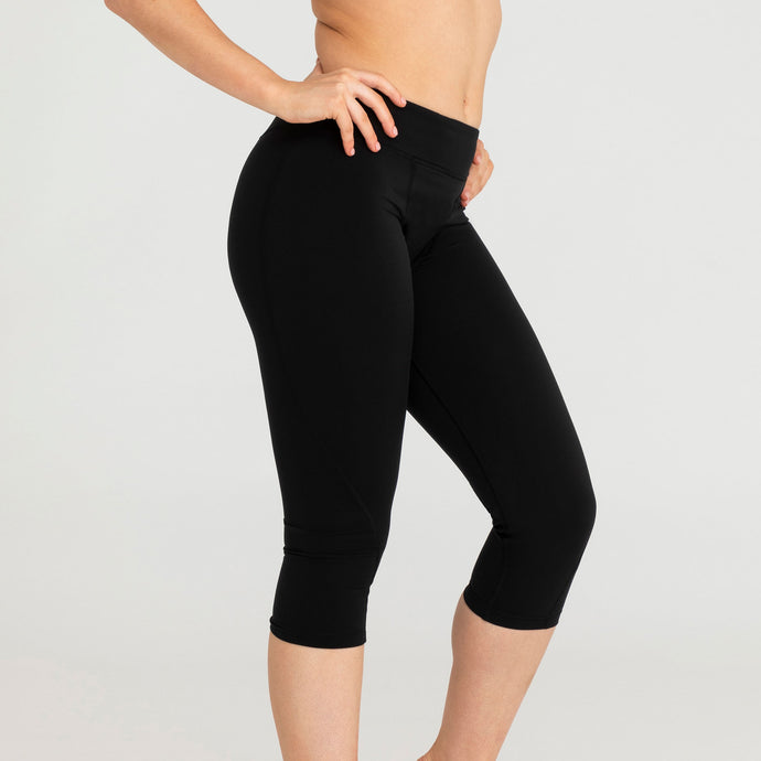Modibodi Active Legging Black Light-Moderate |ModelName:Tiffany S/10
