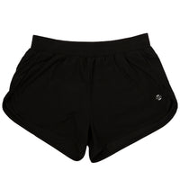 Modibodi Running Shorts Black Light-Moderate Flatlay