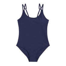 Load image into Gallery viewer, Modibodi Swimwear One Piece Navy Light-Moderate Flatlay