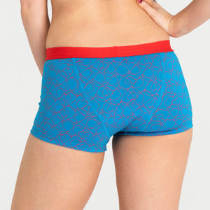 Teen Period Underwear RED Modibodi Boyshort Love Hearts Moderate Heavy 3